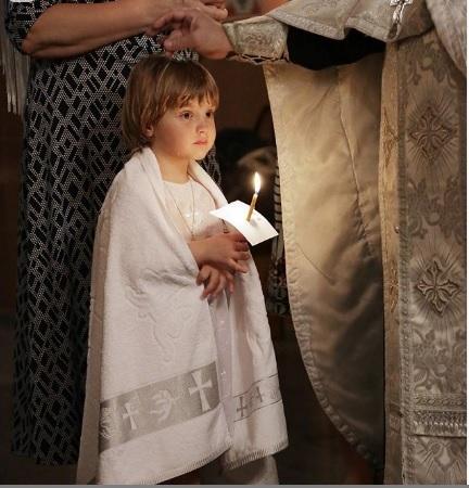 Крестильное полотенце для взрослых