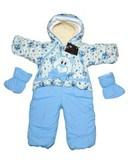 Зимние комбинезоны-трансформеры для новорожденных.