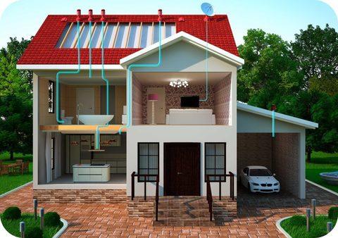 Рассчет систем вентиляции для дома и помещений.