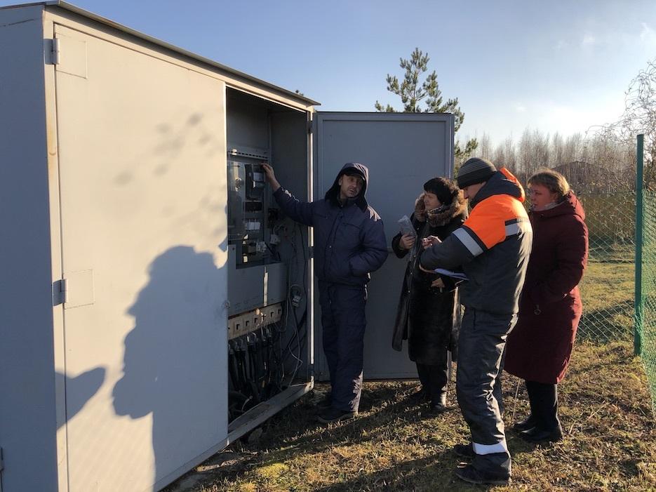 На подстанции в «Романовском Парке» заменили счетчик учета электроэнергии