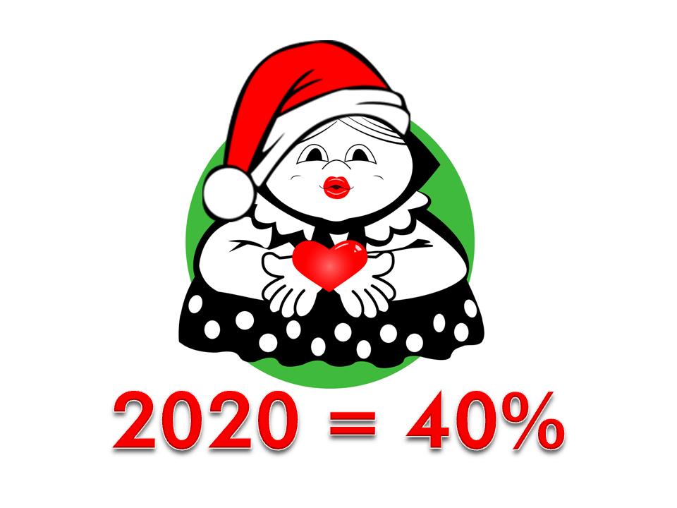 Мы любим делать для Вас скидки! С Новым Годом 2020 = 40%!