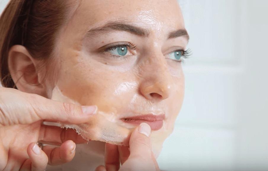 Обновляющая маска-пленка для лица. Рецепт.