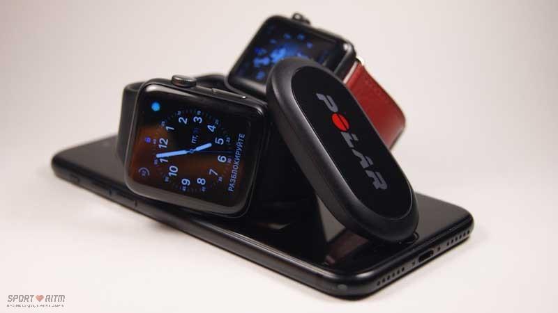 Нагрудный пульсометр для Apple Watch и iPhone
