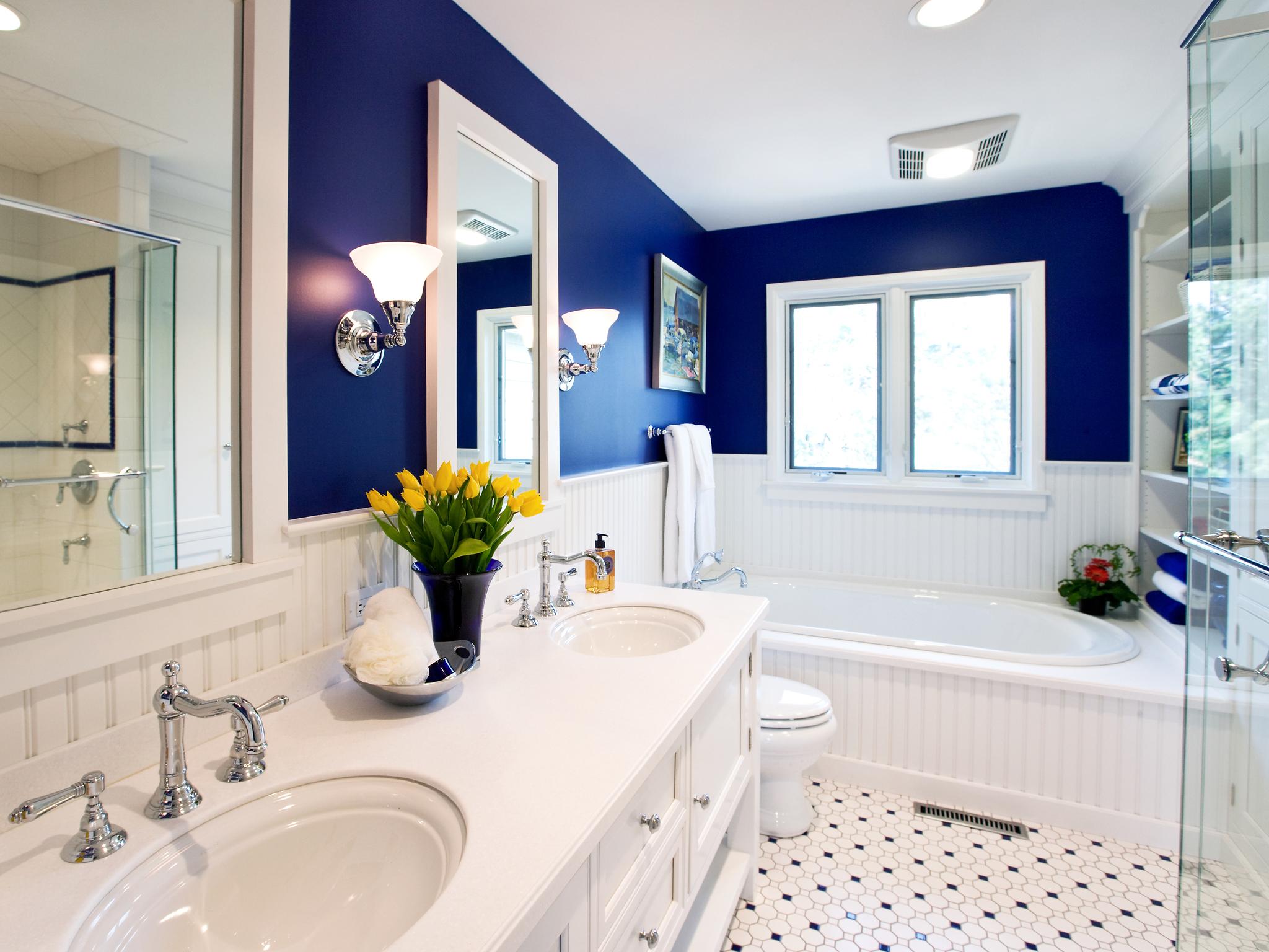 Оформление интерьера ванной комнаты
