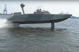 Фото американского катера на подводных крыльях попало в Сеть