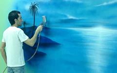 Урок аэрографии: море