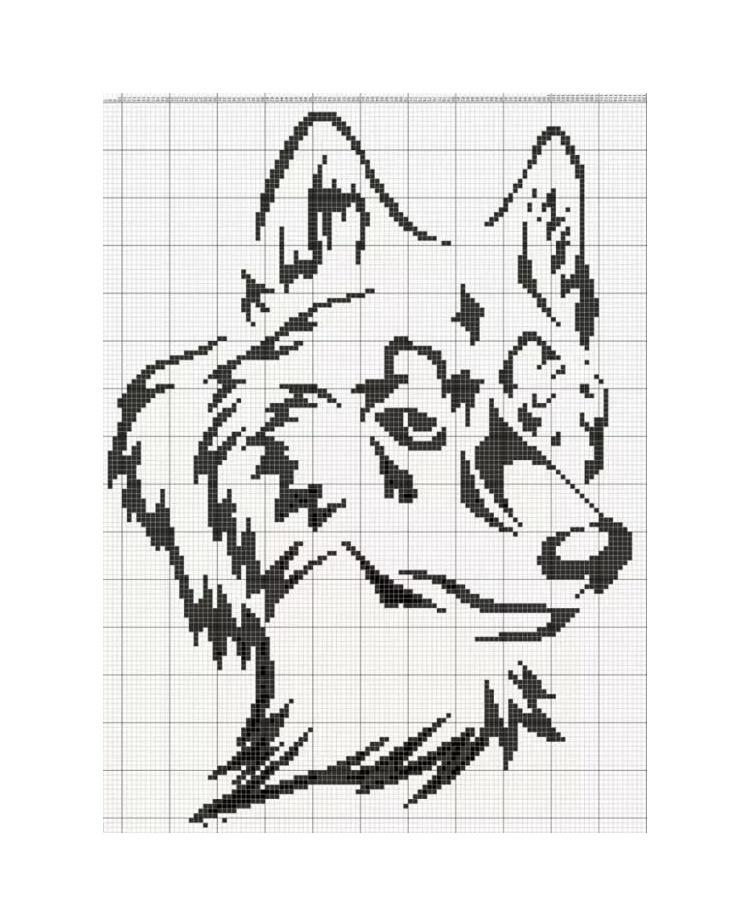 Схемы жаккарда волка