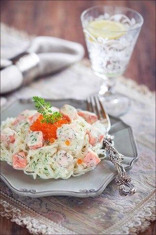 Ширатаки с лососем в сливочном соусе