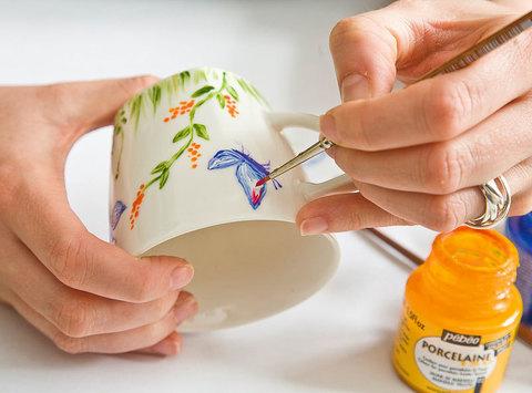 Техники росписи фарфора