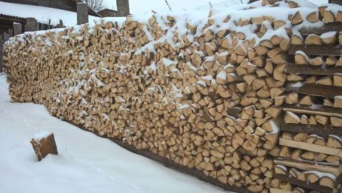 Заготовка дров винтовым-конусным дровоколом