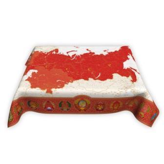 Скатерть с картой СССР