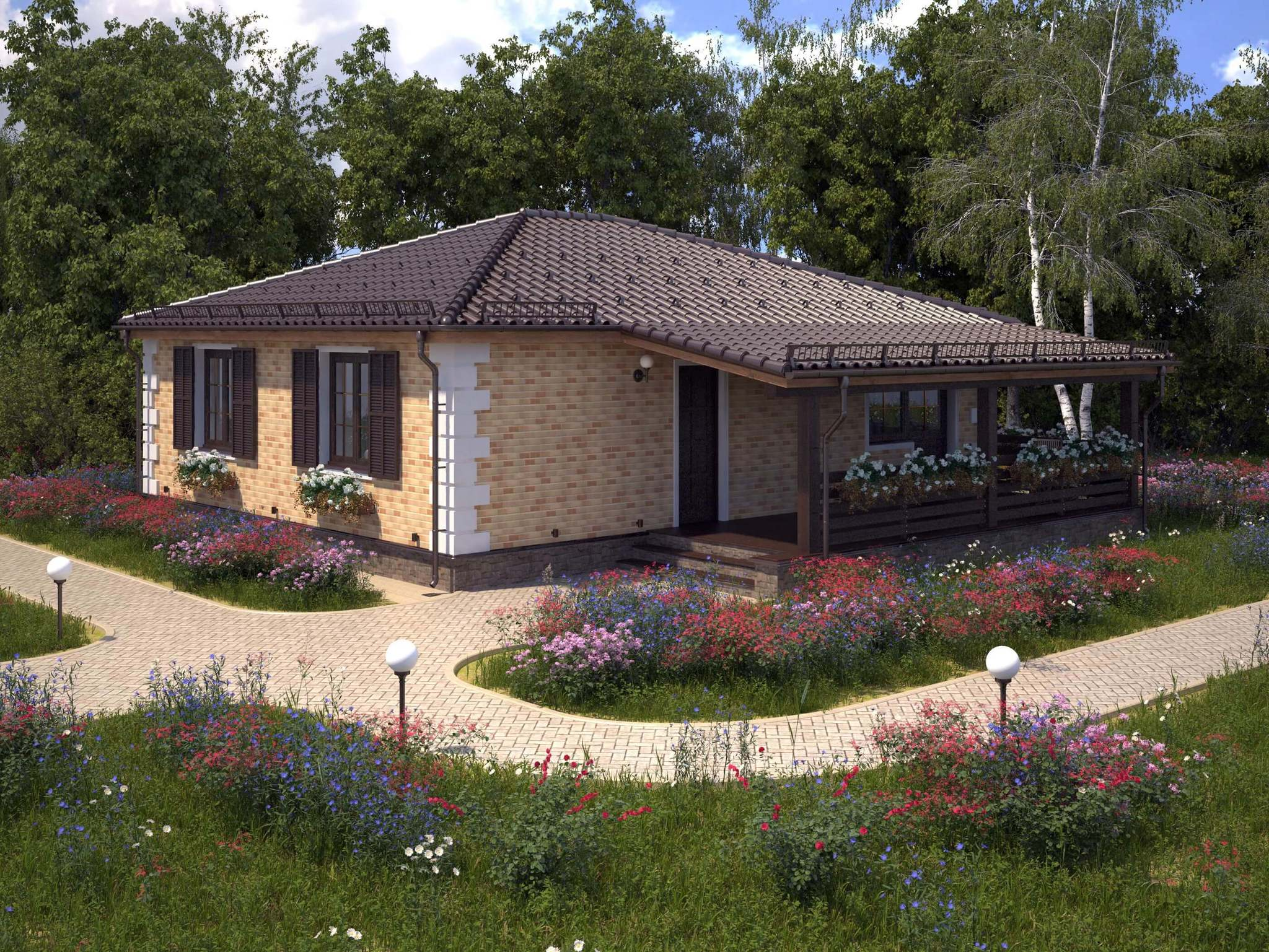 Новый дизайн коллекции одноэтажных домов «Бунгало»