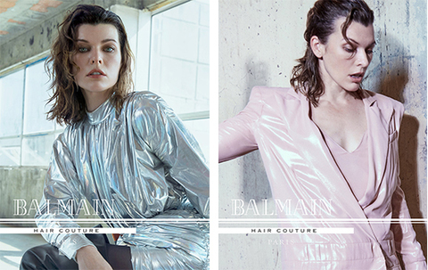 Милла Йовович cтала лицом кампании Осень-Зима 2018 бренда Balmain Hair