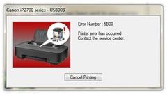 Как сбросить ошибку 5B00 и счётчик «памперса» на принтерах Canon PIXMA