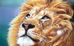 Урок аэрографии: текстура шерсти льва
