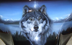 Урок аэрографии:  текстура шерсти волка