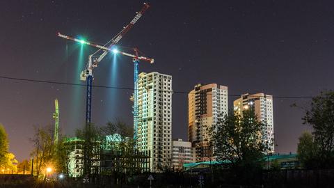 Освещение строительных площадок, подсветка стройплощадок
