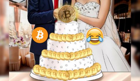 Пара молодоженов хочет только один свадебный подарок: биткоин