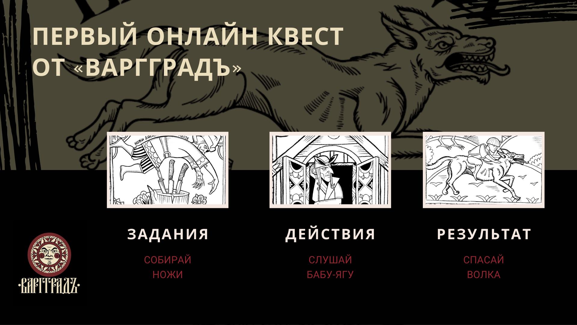 ПЕРВЫЙ ИГРОВОЙ КВЕСТ ОТ ВАРГГРАДЪ