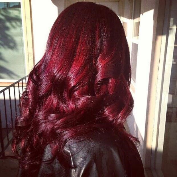 Как покрасить волосы в цвет «Бургунди» без химии. Рецепт.