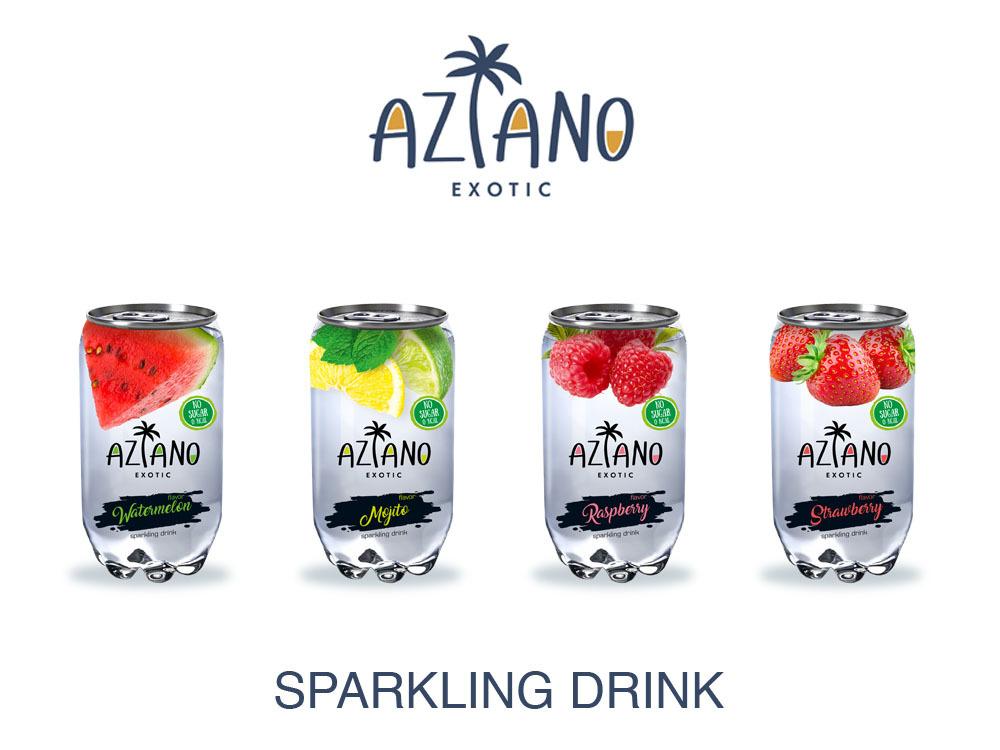 Хотим вам представить новые вкусы уже знакомого вам  Aziano Sparkling Drink