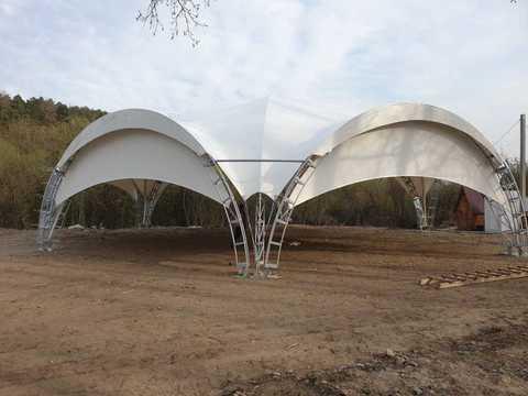 Белый шатер от FirstTent