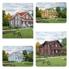 Как выбрать цвет стен, крыши, наличников, свесов