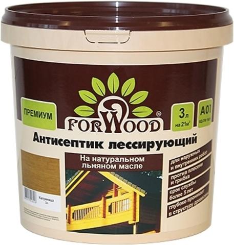 Фасадный антисептик FORWOOD на натуральном льняном масле.