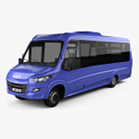 чехлы для Iveco Daily с 2019-н.в. фургон 3 места-передние.