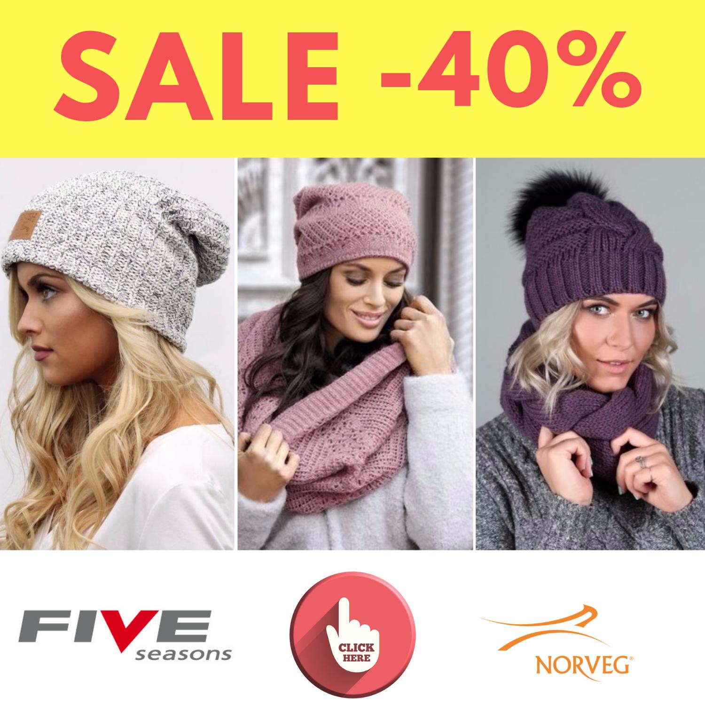 Распродажа зимних аксессуаров Norveg и Five Seasond до 40%.