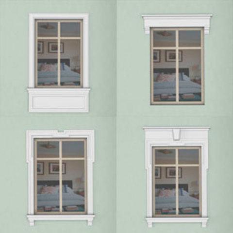 15 типов отделки окон на фасаде  дома.
