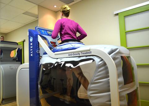 Тренировки на антигравитационной беговой дорожке AlterG при остеоартрите колена