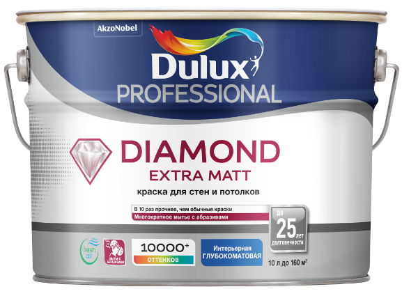 Новый дизайн Dulux Diamond Extra Matt