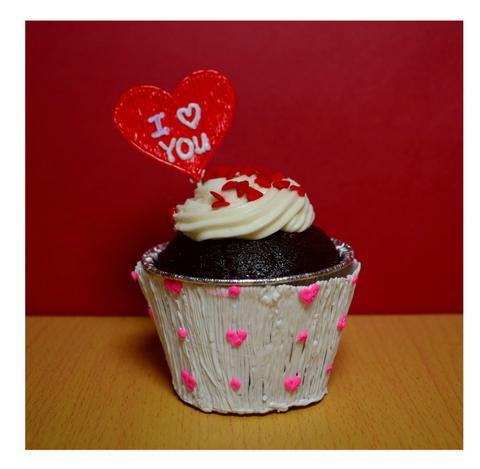 Декор для капкейков на День святого Валентина
