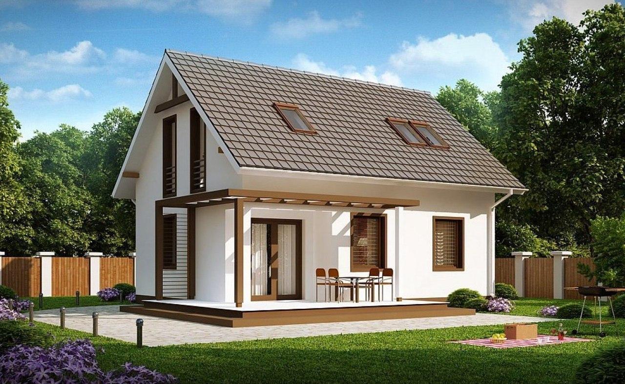 Эскиз проекта дома с мансардным этажом
