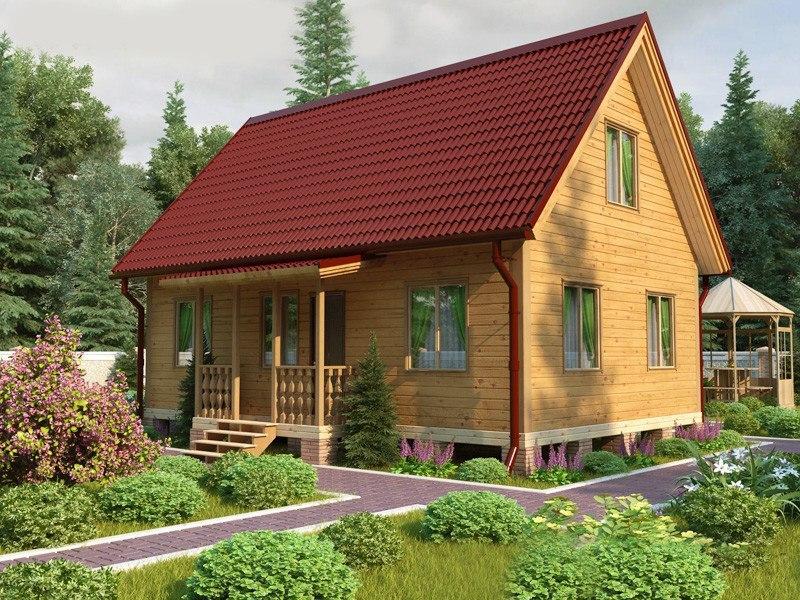 Проект простого двухэтажного дома 95 м2