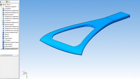 КОМПАС-3D Home для чайников. Основы 3D-проектирования. Часть 10. Создание скребка для очистки стекол.