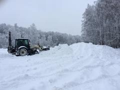В «Романовском Парке» готовится снежная горка