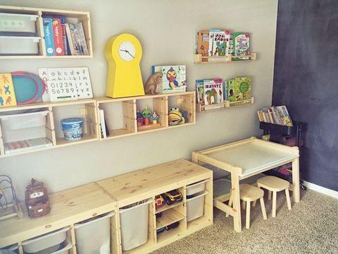 Организация хранения игрушек в детской комнате