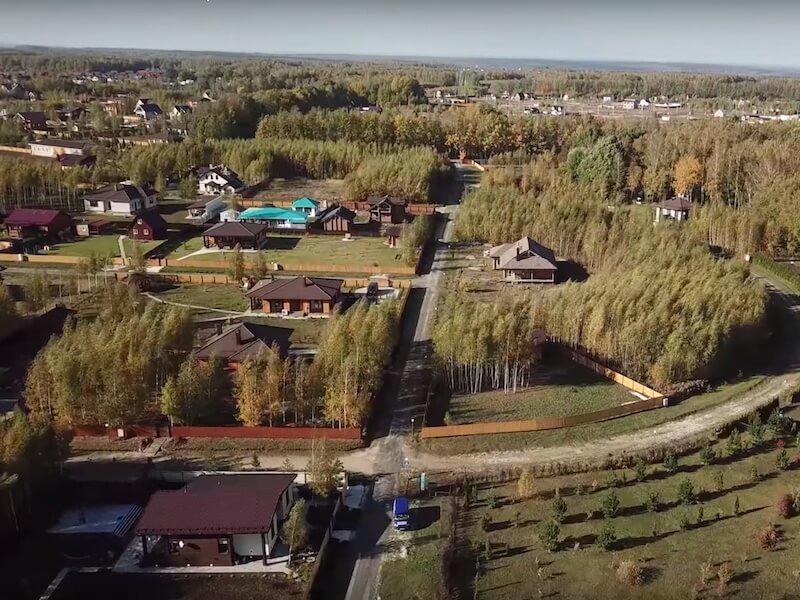 Аэросъемка «Романовского Парка». Октябрь 2018 года