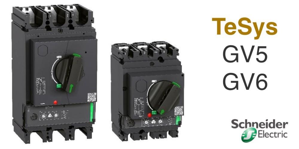 TeSys GV5/6 новая серия автоматических выключателей для защиты электродвигателей высокой мощности