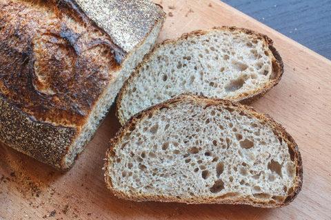 Гречневый хлеб без замеса на закваске и фруктовых дрожжах