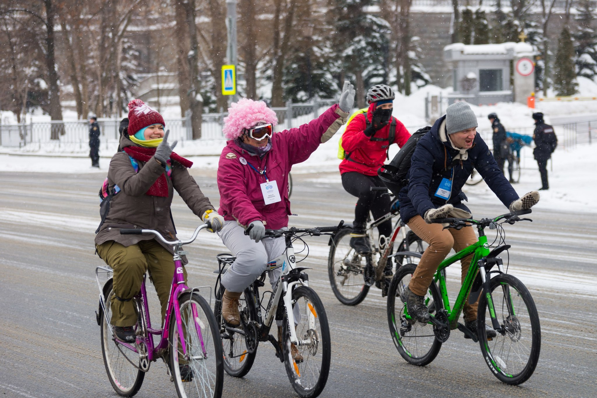 Третий зимний велопарад 2018