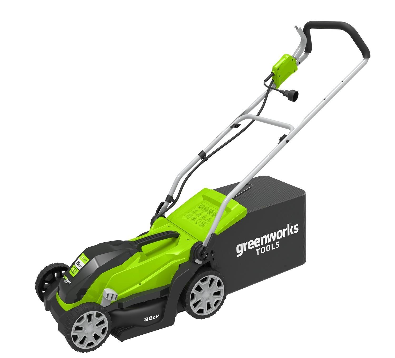 Мульчирование газона газонокосилкой Greenworks