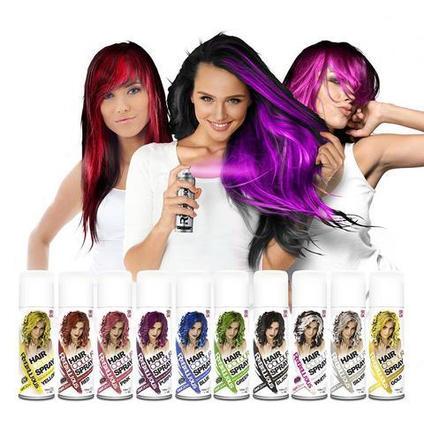 Яркие спреи для волос на один день