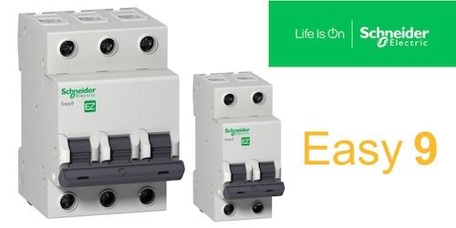 Новые автоматические выключатели с отключающей способностью 6 кА линейки Easy 9.