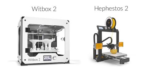 Компания BQ анонсировала новые версии своих 3D принтеров Witbox 2 и Prusa Hephestos 2