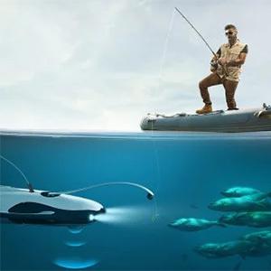 Рыбацкий дрон оснащен камерой 4К
