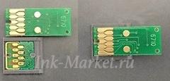 Установка неоригинальных прямоугольных чипов T6711 и T6712 на технологические картриджи Epson