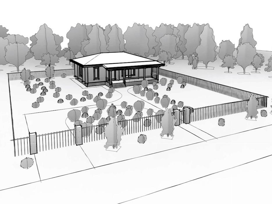 Строительство дома на садовом участке